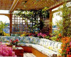 Such a welcoming roof garden