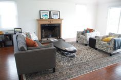 Patterned chairs and persian rug...help!