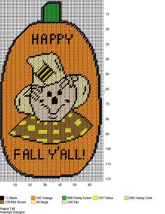 HAPPY FALL by GrannyS Designs -- WALL HANGING