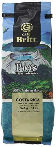 Cafe Britt Poas Volcanic Earth Ground Coffee 12 Ounce Bag -- Check this awesome product by going to the link at the image.