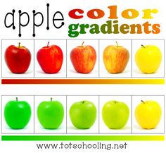 Free Apple Color Gradient Activity