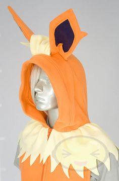 Flareon Vest, Costume, Hoodie, Vest, Jacket, Hand-made, Pokemon. $136.99, via Etsy.
