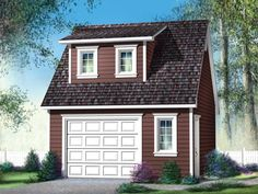 072G-0018: Garage Plan with Loft Available in 12 Sizes