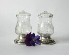 Quaker Silver Co Sterling Hurricane Salt and by TheHeirloomShoppe, $45.00
