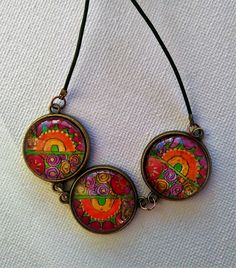Halskette/necklace und Ohrclips/earclips