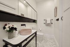 The Block series 13 guest bedroom week room reveals! - The Interiors Addict Bathroom Inspo, Bathroom Inspiration, Modern Bathroom, Master Bathroom, Bathroom Ideas, Bathroom Designs, Cloakroom Ideas, Bathroom Stuff, The Block Australia
