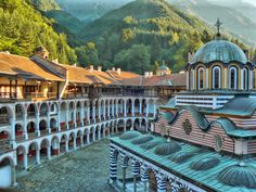 Monastery of Saint Ivan of Rila, better known as the Rila Monastery (Bulgarian: Рилски манастир, Rilski manastir) is the largest and most famous Eastern Orthodox monastery in Bulgaria. It is situated in the southwestern Rila Mountains, 117 km (73 mi) south of the capital Sofia in the deep valley of the Rilska River at an elevation of 1,147 m (3,763 ft) above sea level. The monastery is named after its founder, the hermit Ivan of Rila (876 - 946 AD).