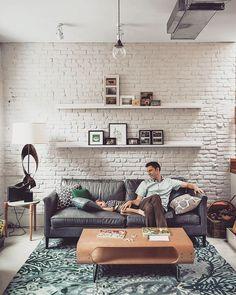 Почему всем нравится белая кирпичная стена! Я не знаю, но это круто! #white #brick #stoneby #minsk