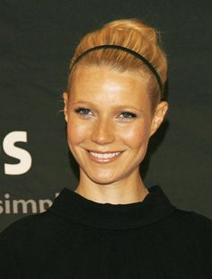 A casual headband and bun. See all Gwyneth Paltrow's best beauty moments here: