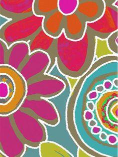 Feelin' Funky Flowers Canvas