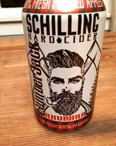this cider is pretty good. the rhubarb flavor is subtle perhaps even more subtle than I'd like. The hipster lumberjack is not.