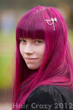 best pink hair colour for unbleached dark hair - Google Search