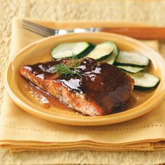 Orange-Glazed Salmon: My sister made homemade Orange Marmalade. This would taste so good!