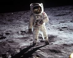 "Edwin ""Buzz"" Aldrin on the lunar surface. 