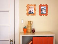 More fun with fabric stiffener. Here's how to make some easy fabric picture frames for your wall. Or cut out anything your heart desires: si...
