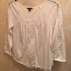 American Eagle Outfitters Tops - American Eagle Outfitters cotton / lace top.