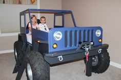 Kids Jeep Bed ●||||||● http://www.etsy.com/listing/173413224/jeep-bed-plans-twin-size-car-bed