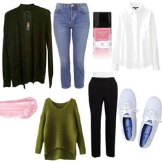 Modern Day Jessica Fletcher by nicolesobol on Polyvore featuring polyvore, fashion, style, Express, Uniqlo, Calvin Klein, Topshop, Keds, By Terry, Butter London and modern