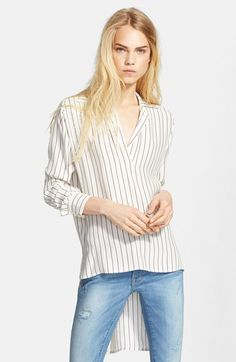 Frame Denim Le High/ Low Silk Popover Tunic