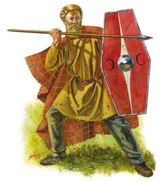 A view of a Germanic warrior from the late 1st century BC. The fighting men of the Germanic forest were able warriors who often raided into Gaul keeping the Gallic peoples who inhabited the border regions constantly vigilant.