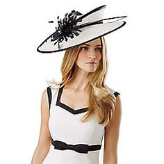 edba107ab64 Phase Eight Adrina Flower Disc Fascinator Black Occasion Wear