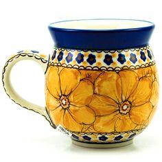 Unikat Polish Pottery Stoneware Gentlemen's Mug U408b - 16oz