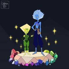 Next up are lapis lazuli and peridots pilot change your mind forms 💕💖💕 .i changed peridot cuz I didn't like what I did with the last one… Steven Universe Pilot, Lapis Lazuli Steven Universe, Character Illustration, Illustration Art, Illustrations, Steven Universe Personajes, Disney Images, Cartoon Tv Shows, Lapidot