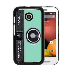 RCGrafix Brand Mint Instamatic Camera Vintage Motorola Moto E Cell Phone Protective Cover Case - Fits Motorola Moto E:Amazon:Cell Phones & Accessories