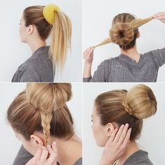 A piece of inspiration: NUTTURA & LETTI Work Hairstyles, Casual Hairstyles, Wedding Hairstyles, Homecoming Makeup, Bun Updo, Makeup Inspiration, Hair And Nails, My Hair, Beauty Hacks