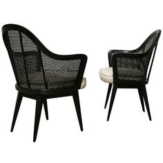 Pair of Caned Back Armchairs by Harvey Probber ca.1950's