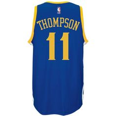 adidas Men's Klay Thompson Golden State Warriors Swingman Jersey ($110) ❤ liked on Polyvore featuring men's fashion, men's clothing, blue, men's apparel, mens clothing and mens jerseys