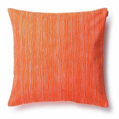 Marimekko Varvunraita Orange Throw Pillow