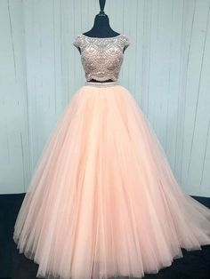 Two Pieces Prom Dresses, Ball Gown Prom Dresses, Pink Prom Dresses, Prom Dresses For Cheap Prom Dresses 2019 Senior Prom Dresses, Cheap Prom Dresses, Pageant Dresses, Quinceanera Dresses, Dress Prom, Dress Long, Quinceanera Party, Pink Formal Dresses, Prom Dresses Two Piece