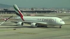 Llegada Airbus A380 Emirates (A6-EDX) - Barcelona Airport
