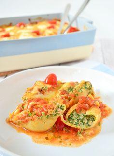 Pastaschelpen met spinazie en ricotta - Laura's Bakery