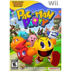 Pac-Man Party - - The legendary Pac Man Brand celebrates the anniversary delivering a game of dozens of mini-games, challenges and surprises. New and updated version of Pac Man delivers f Arcade, Cry Anime, Anime Art, Wii U, Nintendo Wii, Nintendo Switch, Super Nintendo, Pac Man Party, Playstation