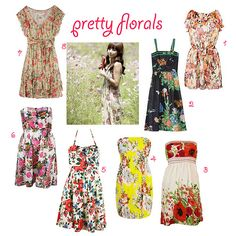 Florals. I like 3, 4, and 7. It's funny how you can love some florals and just not like others.