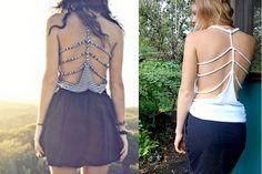 DIY braided back shirt