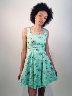 Car Print Dress   Smak Parlour