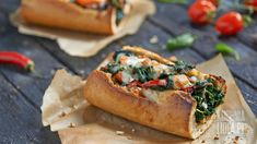 Zapiekana bagietka ze szpinakiem Sandwiches, Spanakopita, Cheesesteak, Bruschetta, Lidl, Vegetable Pizza, Ale, Nom Nom, Recipies