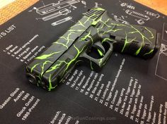 Cerakote Coatings: H-168 Zombie Green with H-190 Armor Black