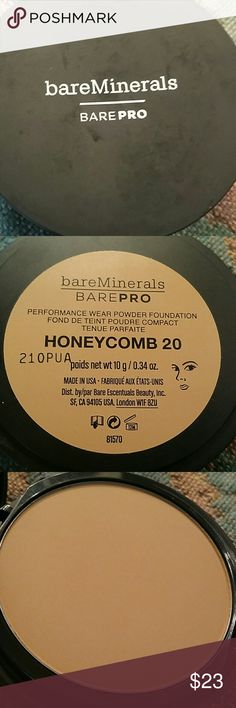 BareMinerals BarePro Foundation* Honeycomb Product has been swatched 1 time and that is all. Pictures shown reflects newness. No trades. bareMinerals Makeup