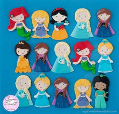 Frozen Elsa Anna Cake Toppers Fondant Cutout by ShopSugarSweet