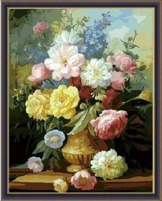 "вАлмазе RU - арт.14203 Раскраска по номерам ""Благоухание цветов"" [размер 40*50 см.] - 1500 руб. - под заказ"