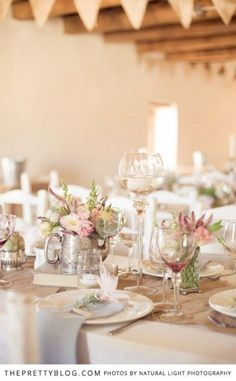 Beautiful table decor for a stunning wedding.   Photography by Natural Light Photography