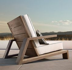 Olema Teak Lounge Chair - Expolore the best and the special ideas about Lounge chairs Outdoor Furniture Plans, Deck Furniture, Pallet Furniture, Furniture Projects, Pallet Chair, Reclaimed Furniture, Teak, Diy Chair, Chair Design