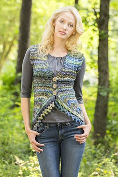 More Pretty Vests to Knit for Spring – sizes small to 3x – free patterns – Grandmother's Pattern Book