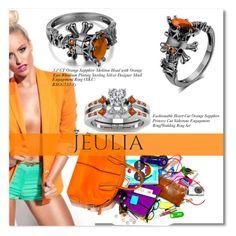 """2.Orange Sapphire Skeleton Head"" by allanaaa11 ❤ liked on Polyvore featuring moda, Michael Kors, women's clothing, women's fashion, women, female, woman, misses, juniors e jewelry"
