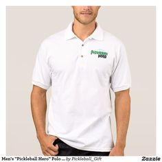 "Men's ""Pickleball Hero"" Polo Shirt Jersey"