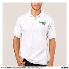 "Men's ""Pickleball Hero"" Polo Shirt Jersey"